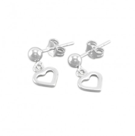 Paige Little Girls Heart Earrings