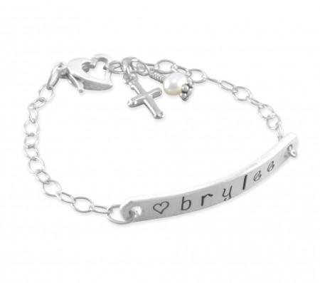 Brylee Hand Stamped ID Bracelet