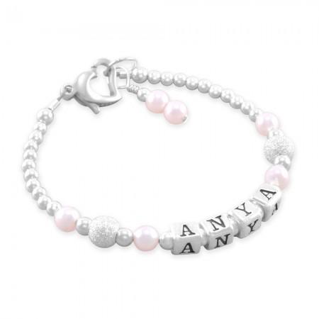 Anya Cotton Candy Name Bracelet
