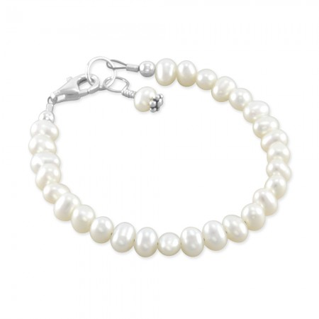sterlingandpearls pearl baby bracelet newborn infant pearl and gold baby bracelet baby pearl bracelet with cross pearl baby gifts baby jewellery monogram letter charm pearls newborn pearl bracelet