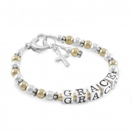 Grace Gold & Silver Name Bracelet