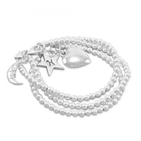 Harlow Star, Moon & Heart Bracelet Set