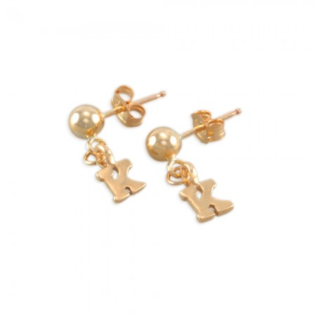 Karianne Little Girls Initial Earrings