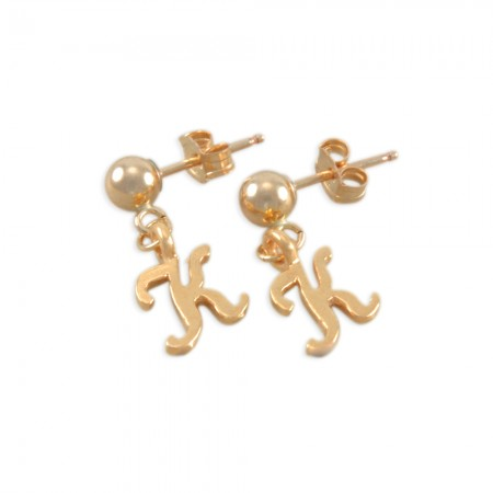 Kay Little Girls Initial Earrings