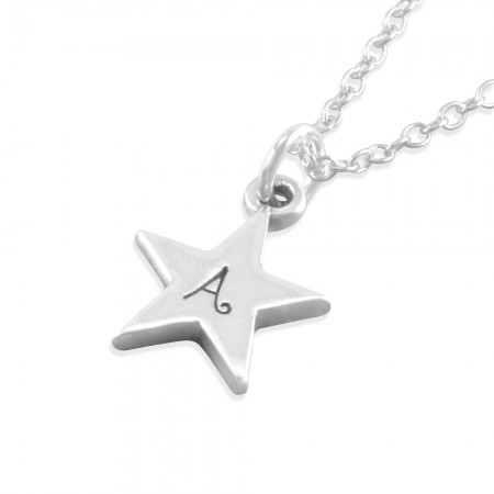 Aubrey Silver Star Necklace