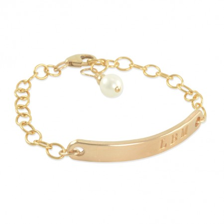 Lucy 14K Gold Filled ID Bracelet