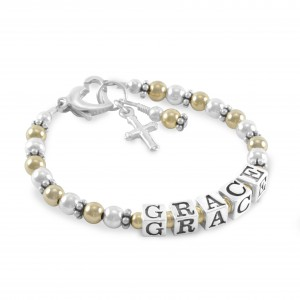 Grace Gold & Silver Name Bracelet