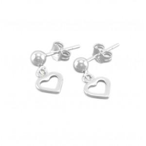 Paige Little Girls Heart Earrings