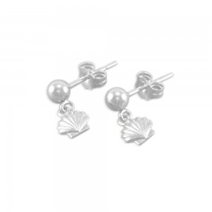 Savannah Little Girls Shell Earrings