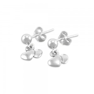 Ansley Little Girls Sweetheart Earrings