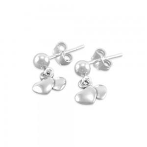 Ansley Little Girls Sweetheart Earrings