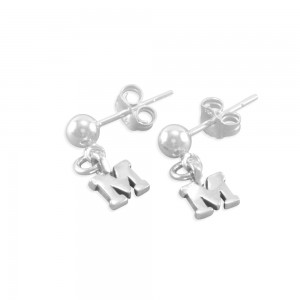 Mariella Little Girls Initial Earrings