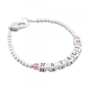 Natalie Birthstone Name Bracelet