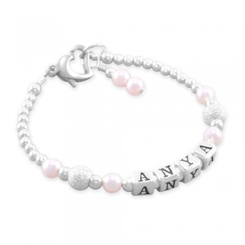 Anya Cotton Candy Name Bracelet