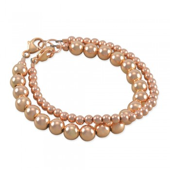 Avaya Rose Gold Stacking Bracelet Set