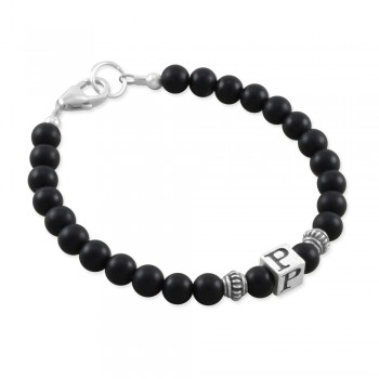 Philip Black Onyx Boys Bracelet