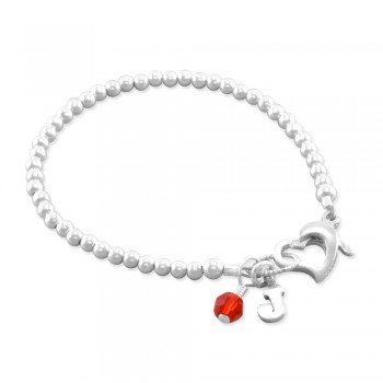 Julia Initial Birthstone Bracelet