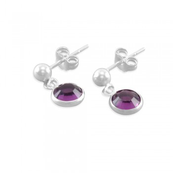 Corrina Little Girls Birthstone Earrings