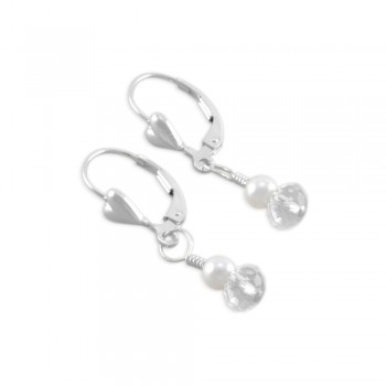 Nikki Little Girls Crystal Drop Earrings