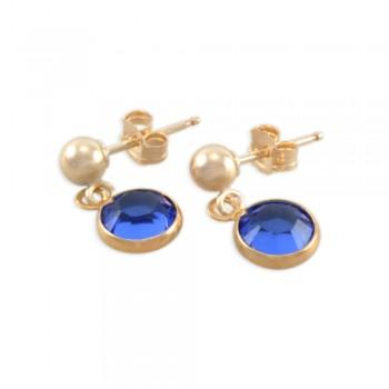 Sophie Little Girls Gold Birthstone Earrings