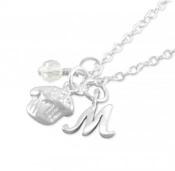 Macy Personalized Cupcake Necklace