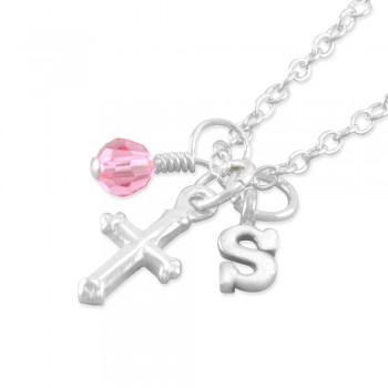 Susanne Personalized Cross Necklace