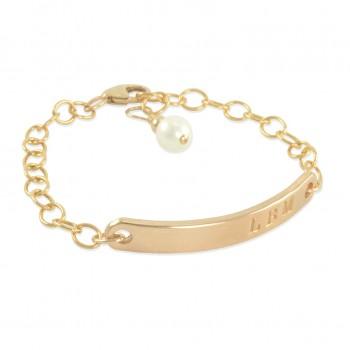 Lucy 14K Gold Filled ID Bracelet