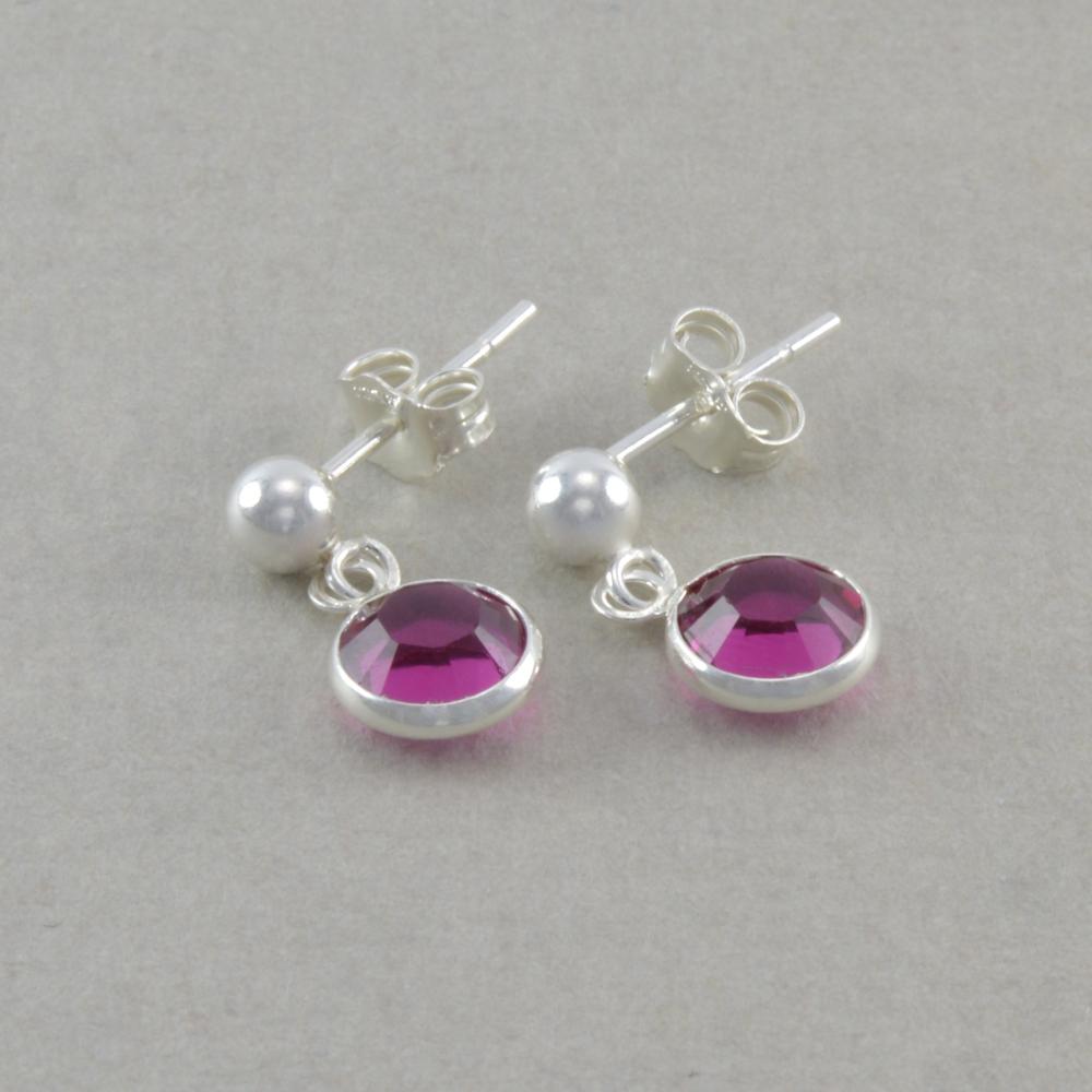 Dangle Earrings Little Girls Sterling Silver Light Pink