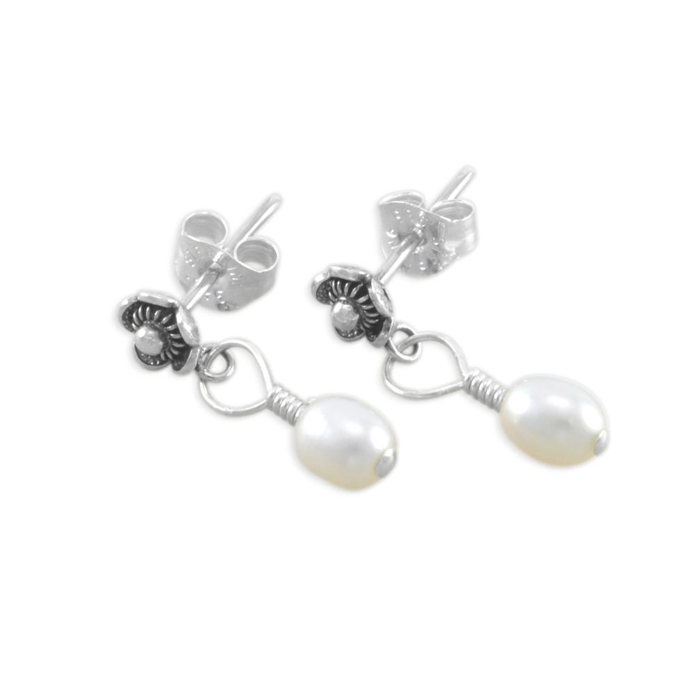 Six Sisters Beadworks Cassandra Flower Girl Earrings