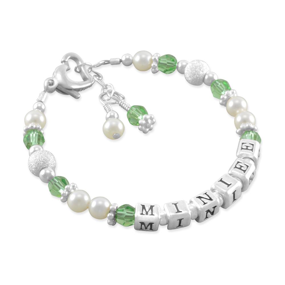 Six Sisters Beadworks Miniee Childs Name Bracelets