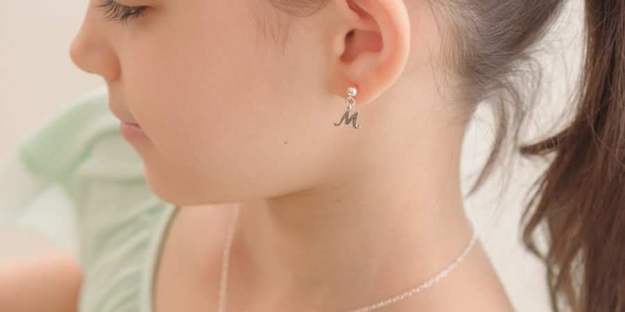 Tiny Initial Earrings