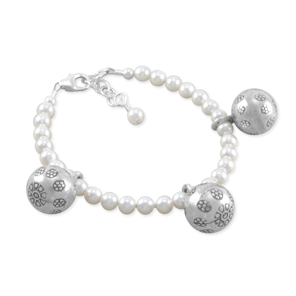 Six Sisters Beadworks Bell Pearl Anklet Ankle Bracelet