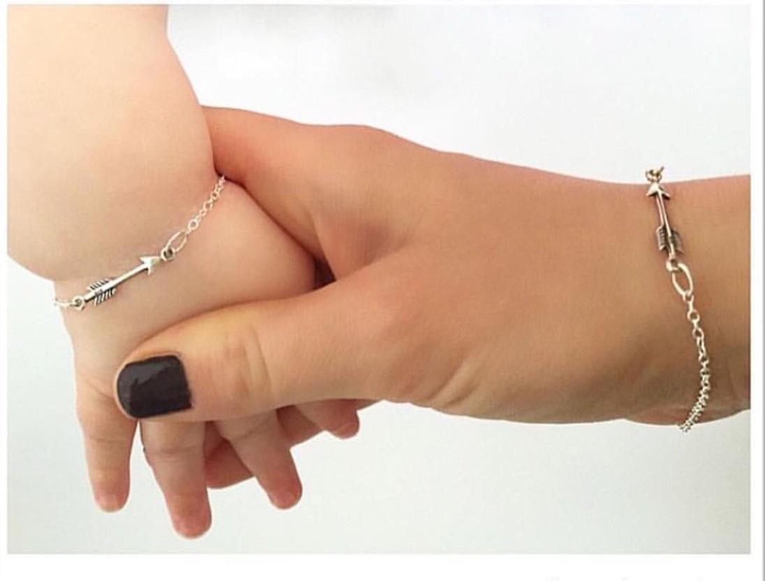 Six Sisters Beadworks Arrow Bracelet Childrens Sterling