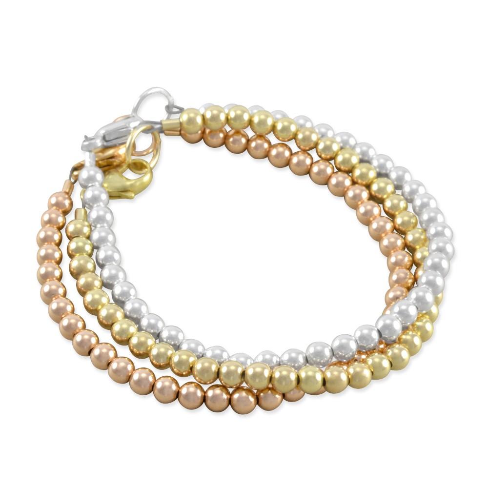 Top Six Sisters Beadworks - Celeste Stacking Bracelet Set rose gold  IX82