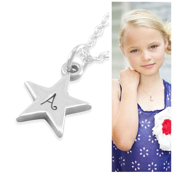Six Sisters Beadworks Aubrey Silver Star Necklace
