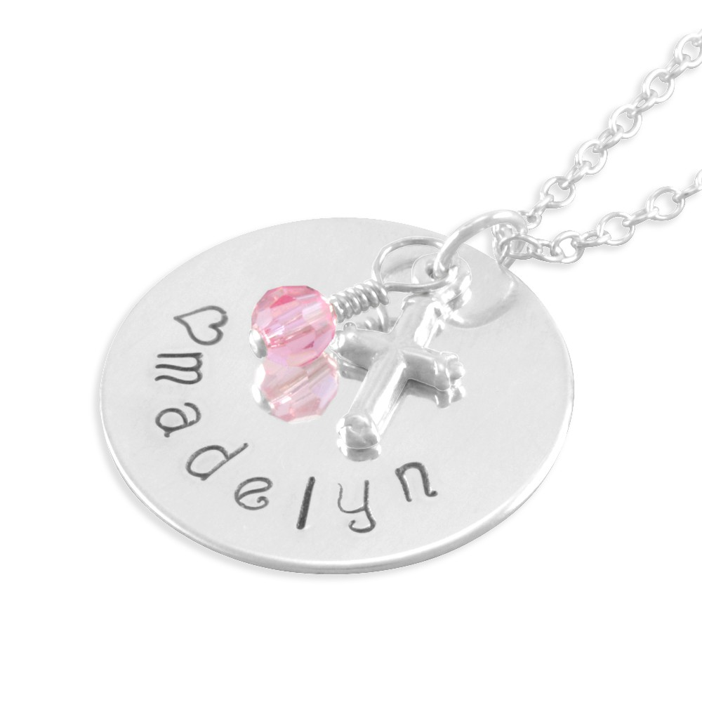 181138614 Six Sisters Beadworks - Madelyn Hand Stamped Name Necklace little ...