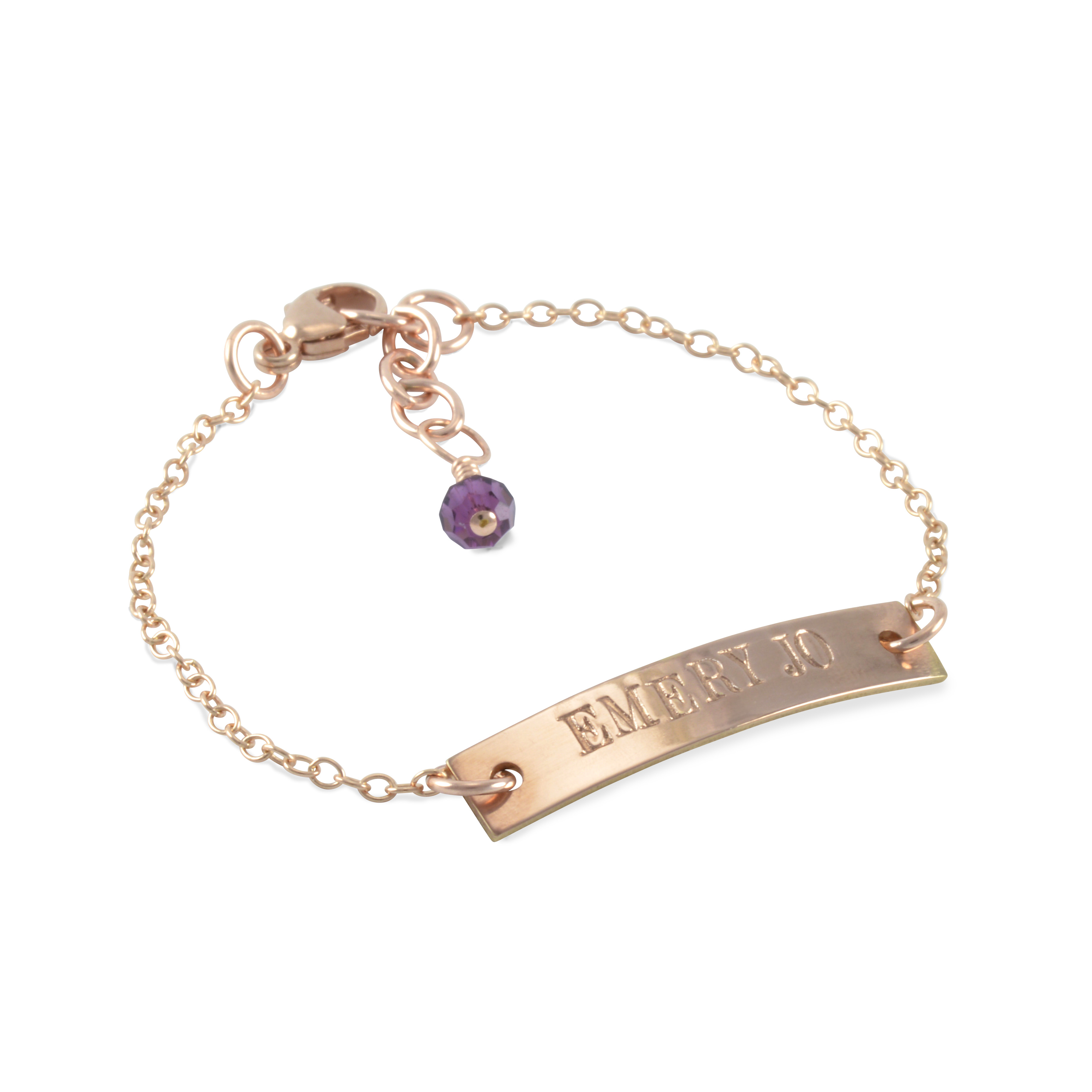 Six Sisters Beadworks Rose Gold Id Bracelets Engraved